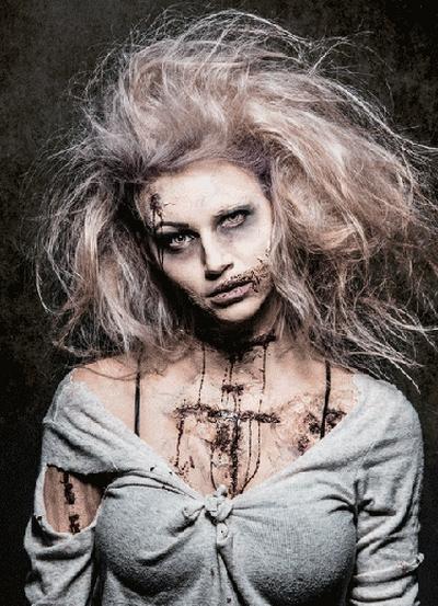Макияж девушки зомби фото