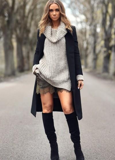 5d754d7fdcc ... вязаное платье свитер 3
