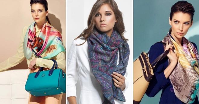 Платок-шарф – красивые способы завязывания на шее и на голове