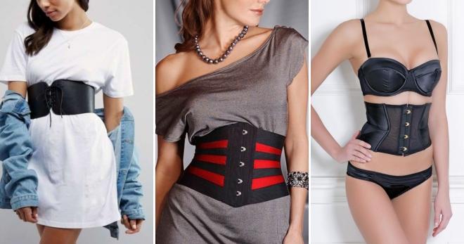 Корсетный пояс – с чем носить этот модный тренд?