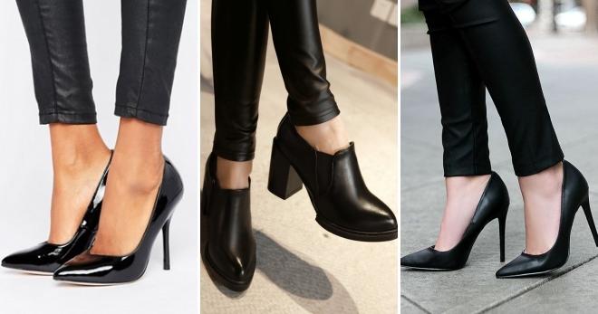Черные туфли на каблуке – с чем носить и как создать модный образ?