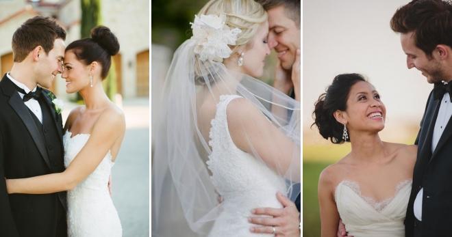 Пучок на свадьбу 100 красивых и стильных фото с фатой