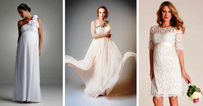 d763602932c Свадебные платья для беременных – лучшие наряды для невест с округлившимся  животом