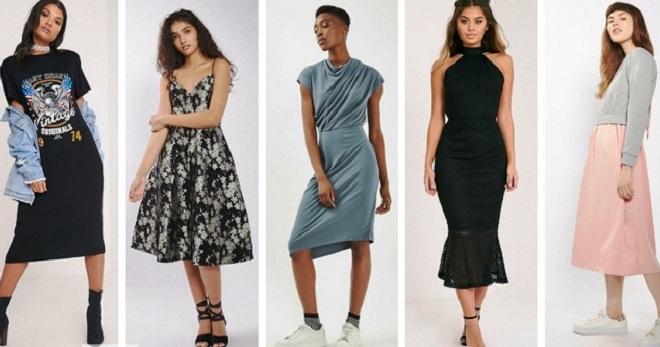 Платье миди – самые модные и стильные модели на все случаи жизни