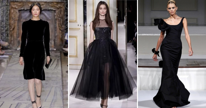 2ce5b00b080 Черное вечернее платье – самые модные и красивые наряды для девушек