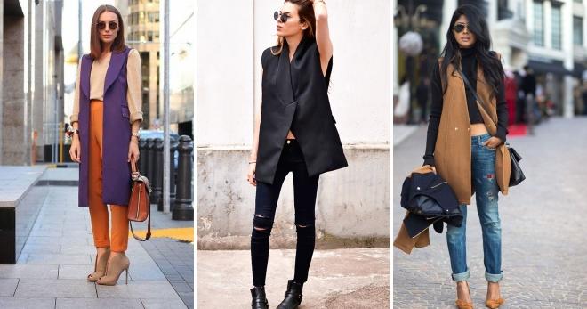 Удлиненный жилет – с чем носить этот стильный элемент женского гардероба?