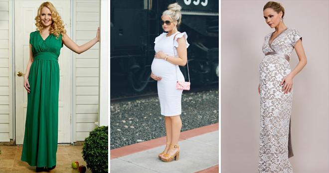 a150f454ad43 Платья для беременных – лучшие наряды, скрывающие или подчеркивающие живот