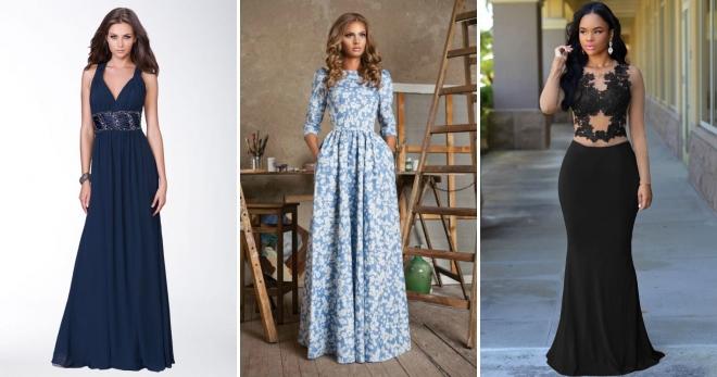 2df7f524386 Длинные платья в пол – самые красивые и модные вечерние и повседневные  наряды