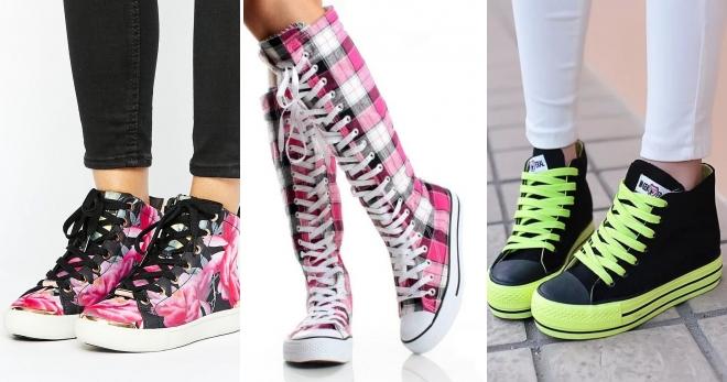 Высокие кеды – с чем носить эту стильную обувь?