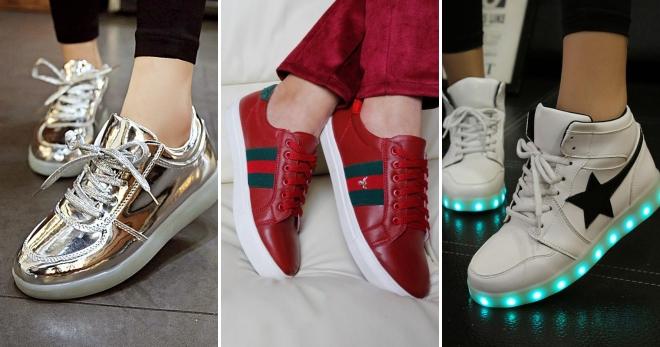 Модные женские кожаные кроссовки – Адидас, Найк и Рибок, летние и ... b21541cd4be