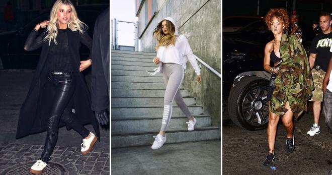 Модные женские кеды Пума на платформе – бархатные и замшевые 707a983f113ab