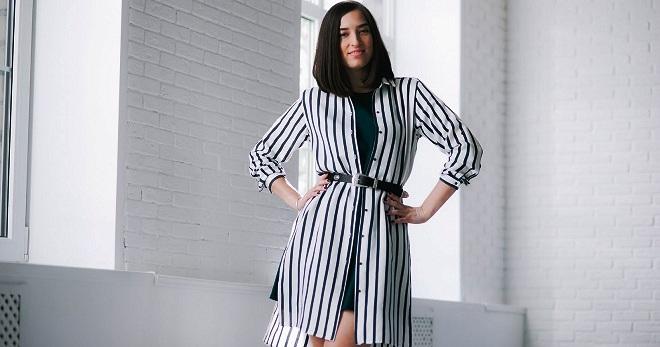 Платье рубашка 2017 – модный тренд нового года 56e016419183f