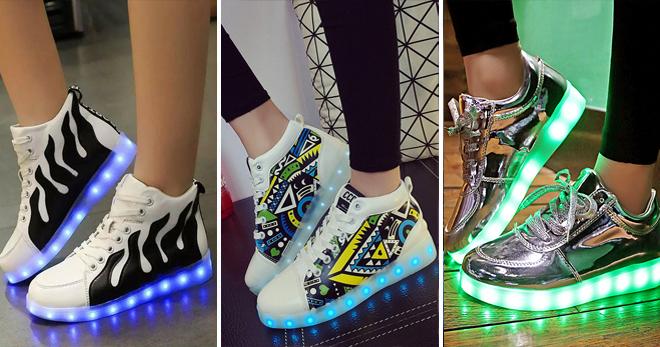 Светящиеся кеды – стильная обувь для взрослых и детей