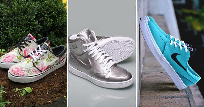 0b15325d Стильные женские кеды Nike – высокие и низкие, белые и черные ...