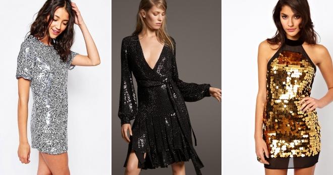 ac10d3428927801 Модное платье с пайетками – длинное и короткое, с бахромой и ...