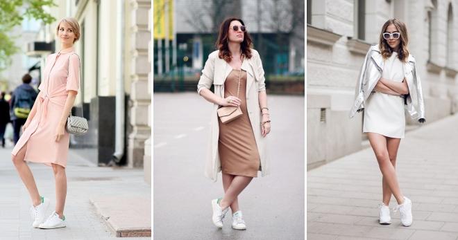 Платье с кроссовками – что скажут стилисты?