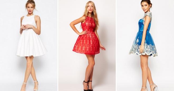 741815301bce7bd Платье с пышной юбкой – модные вечерние и стильные повседневные модели