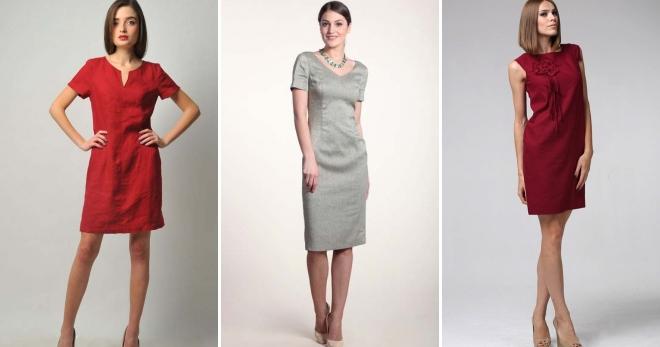 Платья из льна – модные фасоны для стильных девушек