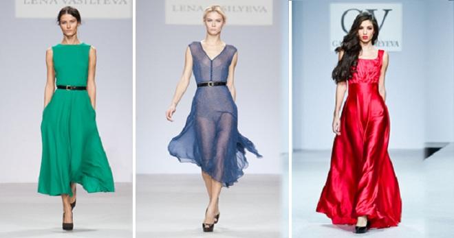 Шелковое платье – самые красивые и модные фасоны