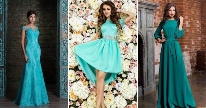 9838bb09fd68002 Модное бирюзовое платье – красивое вечернее и повседневный сарафан ...