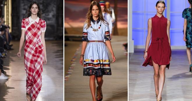 Платье поло – модная трансформация спортивной футболки