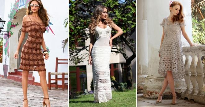 Вязаные летние платья – подборка оригинальных ажурных нарядов