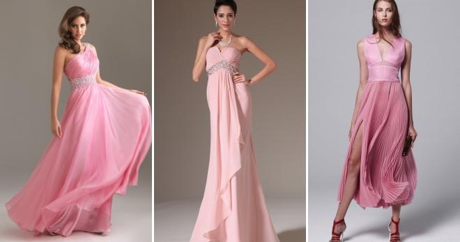 de0714f9c357a3c Розовое платье – длинное в пол, миди и короткое, вечернее и ...
