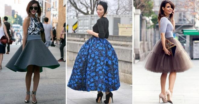 Пышная юбка – какую выбрать и с чем носить?