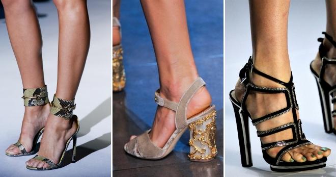 aa8a57a6a0f029 Женские летние босоножки на каблуке – черные и бежевые, красные и ...