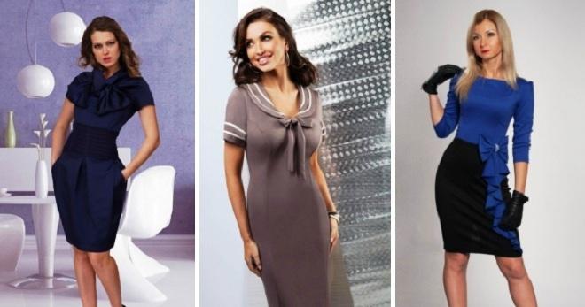 f3bb1f7ea5f Стильные женские деловые платья для офиса – длинные и миди
