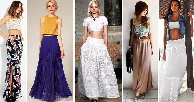 Топ и юбка – универсальный комплект на все случаи жизни