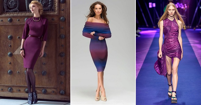 0ad3a84802e241b Модное красивое фиолетовое платье – длинное в пол и короткое ...