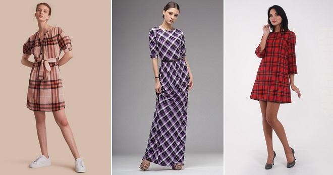 23009a77315 Платье в клетку – самые модные фасоны и с чем носить
