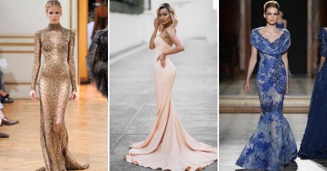 Платье рыбка – подборка фото самых женственных образов
