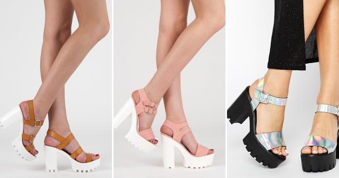 Босоножки на тракторной подошве – с чем носить самую модную обувь этого лета?