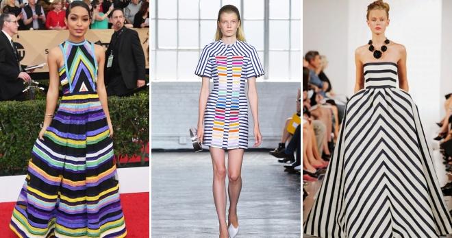 b9cded1de567f0f Модные летние платья в полоску 2017 – длинные в пол, миди и короткие ...