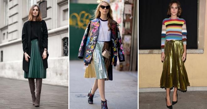 Плиссированная юбка – с чем носить длинную, миди и короткую юбку плиссе?