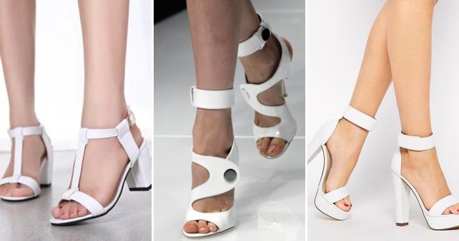 Белые босоножки – лучшие модели универсального цвета для любого образа