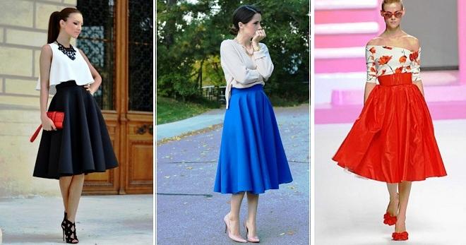 bfe35f42dac Модная юбка-солнце – длинная в пол, миди и короткая, клеш ...