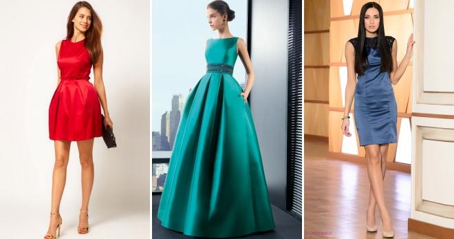 Атласное платье – шикарный наряд для самых элегантных