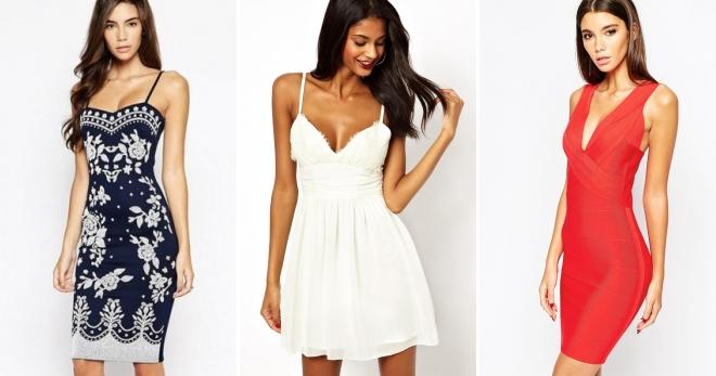 Платье на бретелях – подборка лучших моделей и образов