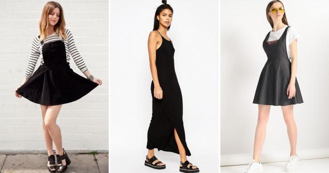 4aecba1e34a5 Модный черный сарафан – длинный в пол и короткий, джинсовый ...