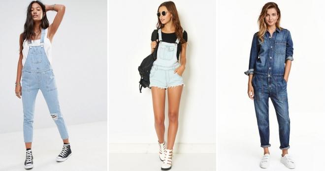 4ba12404988 Модный женский джинсовый комбинезон для девушек – классический ...