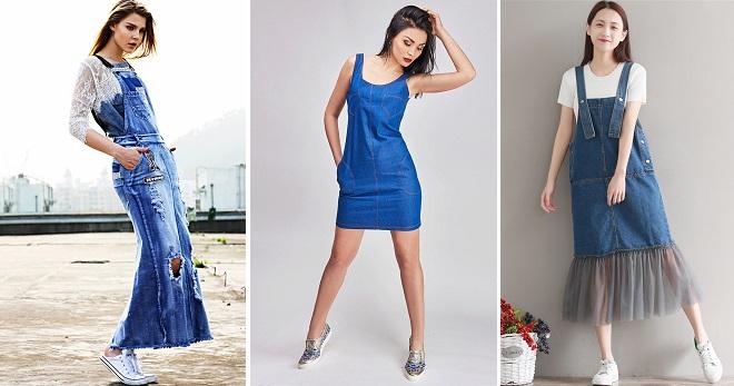 Джинсовый сарафан – самые красивые, удобные и стильные модели