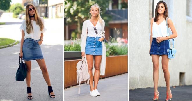 С чем носить джинсовую юбку – подборка лучших образов на все случаи жизни