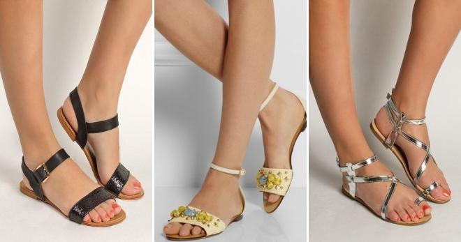 Босоножки без каблука – лучшие образы на лето с шортами и платьем