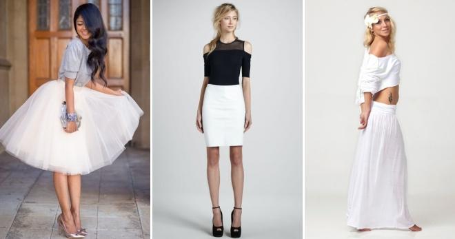 Белая юбка – самые модные модели на все случаи жизни