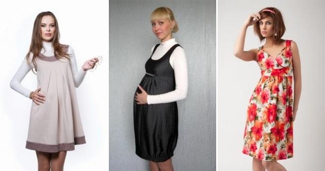 1e4e5d2d863fd52 Красивый сарафан для беременных – длинный в пол, миди и короткий ...
