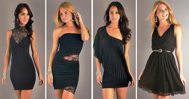 Черное короткое платье – универсальная одежда на все случаи жизни