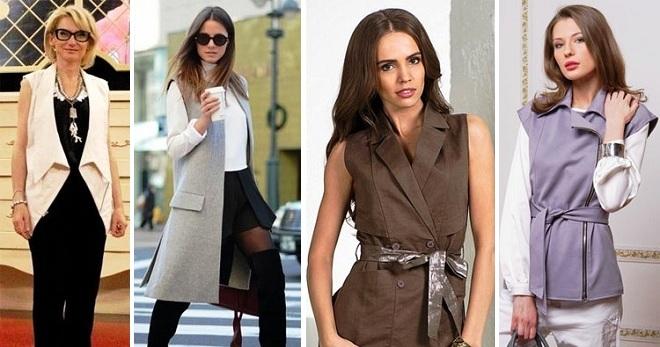 0931b27ab22 Пиджак без рукавов – модные образы с классическими и необычными моделями